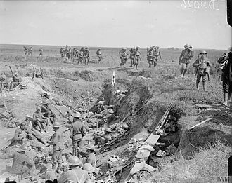 173rd (3/1st London) Brigade - Regimental aid post near Chipilly, 10 August 1918.