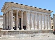 Maison Carrée temple in Nemausus Corinthian columns and portico