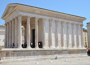 The Maison Carrée, 1st century BCE Corinthian temple commissioned by Marcus Agrippa, Nemausus (Nîmes, France) (14562136110)