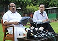 The Minister of State (Independent Charge) for Consumer Affairs, Food and Public Distribution, Professor K.V. Thomas briefing the media about India's presentation made at recently concluded FAO meet, in New Delhi.jpg