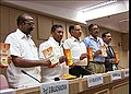 The Minister of State (Independent Charge) for Micro, Small & Medium Enterprises, Shri K.H. Muniyappa releasing a book 'Skilling through Self-Employment Schemes & Programme, in New Delhi. The Secretary, Ministry of Micro.jpg