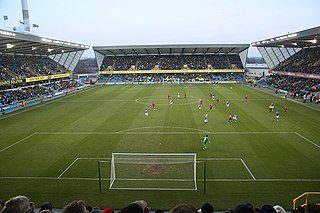 The Den Football stadium in London, home to Millwall F.C. since 1993