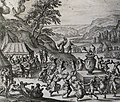 The Phillip Medhurst Picture Torah 447. Worshipping the golden calf, Exodus cap 32. Borcht.jpg