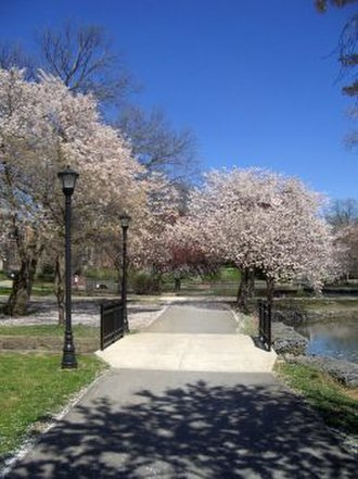 Millersville University of Pennsylvania - Image: The Pond area in bloom
