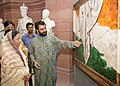 The President, Smt. Pratibha Patil taking round after inauguration of an exhibition of Modern Paintings and Sculptures, on the occasion of 60 years of Independence at Rashtrapati Bhavan, in New Delhi on August 14, 2007.jpg