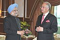 The Prime Minister, Dr. Manmohan Singh meeting the Prime Minister of Malaysia, Dato' Sri Mohd Najib Bin Tun Abdul Razak, at Putrajaya, the Prime Minister Office, in Malaysia on October 27, 2010.jpg