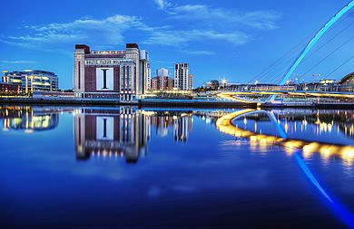The Baltic Centre for Contemporary Art, formerly an industrial building, is a symbol of the regeneration of Gateshead. The River Tyne & Baltic Flour Mills (7880784038).jpg