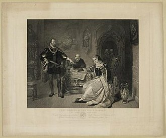 Charles Burt - The Signing of the Death Warrant for Lady Jane Grey, 1848.