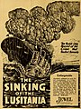 The Sinking of the Lusitania, ad in The Moving Picture World, September 7th, 1918.jpg
