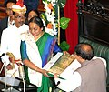 The Speaker, West Bengal Legislative Assembly, Shri Biman Bandopadhyay presenting a memento to the Speaker, Lok Sabha, Smt. Meira Kumar.jpg
