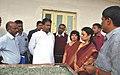 The Union Minister for Textiles, Dr. Kavuru Sambasiva Rao visiting the Chawki Rearing Centre, in Ramanagara district of Karnataka on July 04, 2013.jpg