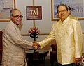 The Union Minister of External Affairs, Shri Pranab Mukherjee meeting with the Prime Minister of the Kingdom of Thailand, Mr. General Surayud Chulanont, in New Delhi on June 26, 2007.jpg