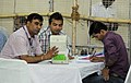 The counting of votes in progress, at a Counting Centre of General Election-2014, in New Delhi on May 16, 2014 (1).jpg