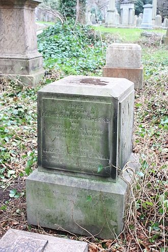 Arthur Connell - The grave of Prof Arthur Connell, Warriston Cemetery, Edinburgh