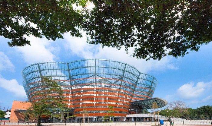 The landmark Nelum Pokuna (Lotus Pond) Mahinda Rajapaksa Theatre