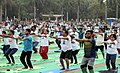 The participants in the mass performance of Common Yoga Protocol, on the occasion of the 4th International Day of Yoga -2018, at Talkatora Garden, in New Delhi on June 21, 2018 (2).JPG