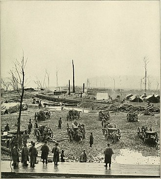 Battle of Johnsonville - Federal artillery rushing out of Johnsonville after Forrest's raid