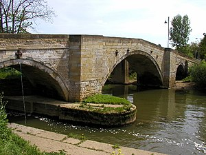 A166 road - Image: The road bridge at Stamford Bridge over the River Derwent