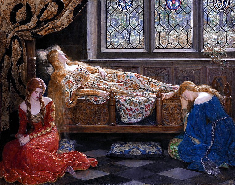 File:The sleeping beauty by John Collier 1.jpg