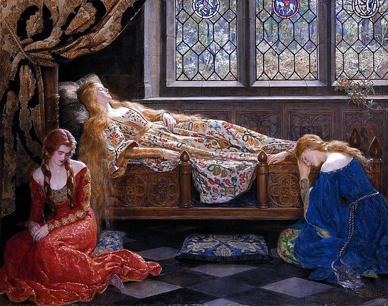 File:The sleeping beauty by John Collier 1.jpg