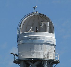 Mount Wilson Observatory - Top of the Solar tower containing the  mirrors