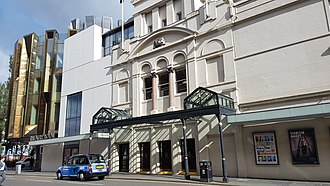 Theatre Royal, Glasgow - Theatre Royal, Hope Street, Glasgow showing on left the new foyers added in 2014