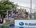 This event seemed to go on almost non-stop from Friday afternoon to late Sunday. Owners and spectators loved it but the dogs seemed to love it most of all. Hurdling off a simulated dock into a huge (27151382456).jpg