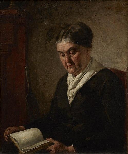 File:Thomas Eakins - Portrait of a Woman Reading - 1954.173 - Dallas Museum of Art.jpg