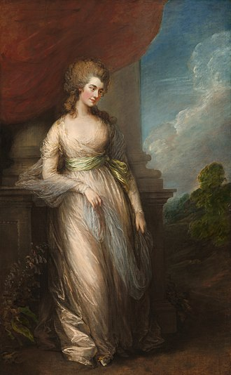 Georgiana Cavendish, Duchess of Devonshire - The Duchess of Devonshire by Thomas Gainsborough, 1783.