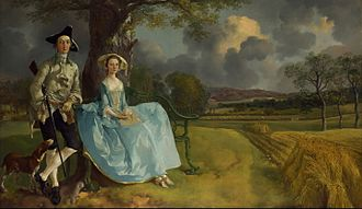 Landed gentry - Mr and Mrs Andrews (1748-49) by Thomas Gainsborough, a couple from the landed gentry, though in fact their wealth was derived from sources including textiles, foreign trade and moneylending, and had only very recently been invested in land. National Gallery, London.