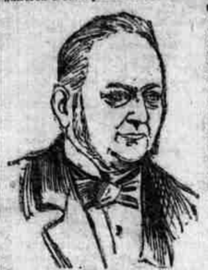 Thomas Tilling - Ink sketch of Thomas Tilling, from an 1893 South London Press article.