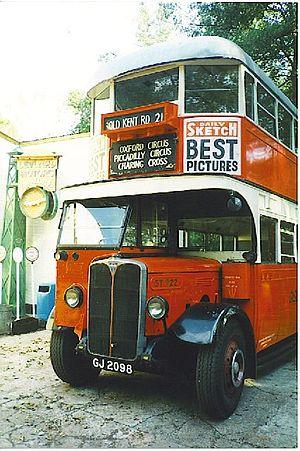 Thomas Tilling - Thomas Tilling bus in Cobham Bus Museum, 1997.