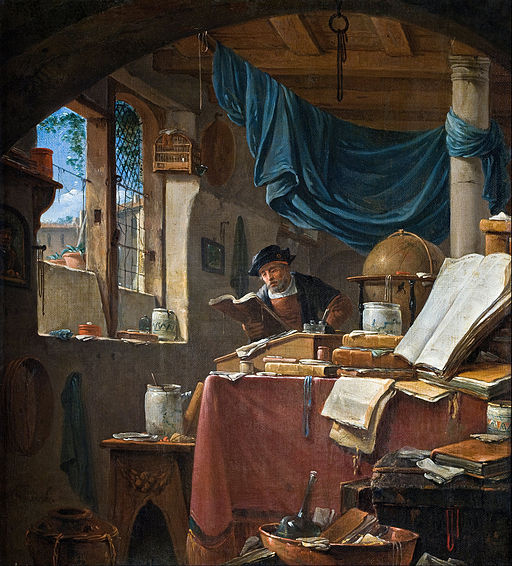 Thomas Wyck - A scholar in his Study - Google Art Project