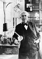 Edison mit Lampe