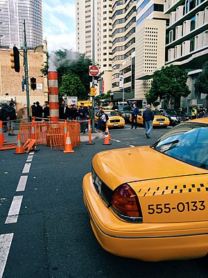 Thor: Ragnarok - Filming of Thor: Ragnarok in Brisbane's central business district, which doubled as New York City.