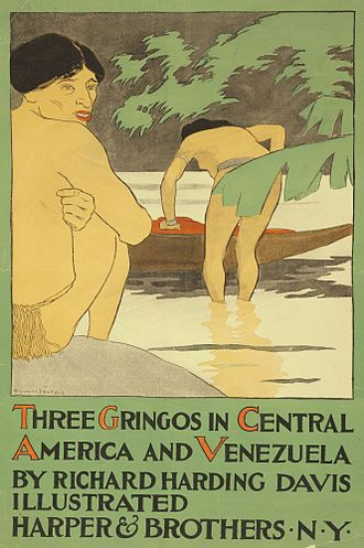 Richard Harding Davis - Three Gringos in Central America and Venezuela: poster by Edward Penfield.