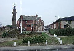 Thrybergh - War Memorial and The Fullerton - geograph.org.uk - 635191.jpg