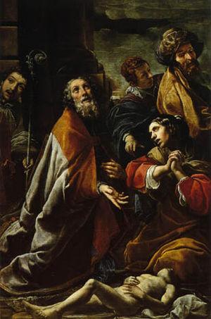 Alessandro Tiarini - St Martin Resurrects a Boy, (Santo Stefano, Bologna)
