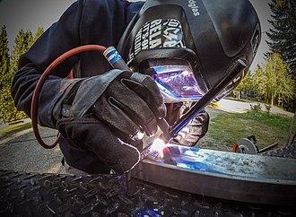 Gas tungsten arc welding - TIG welding repair on a small part