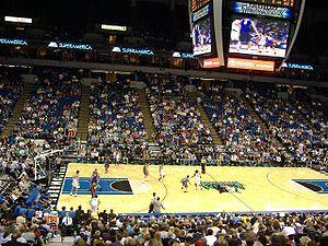 A Minnesota Timberwolves game at Target Center.