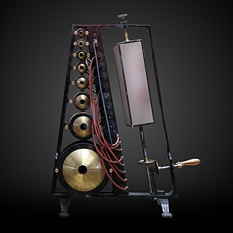 Rudolph Koenig - Sound analyser with 8 resonator balls, by Koenig, 1880, Conservatoire national des Arts et Métiers.