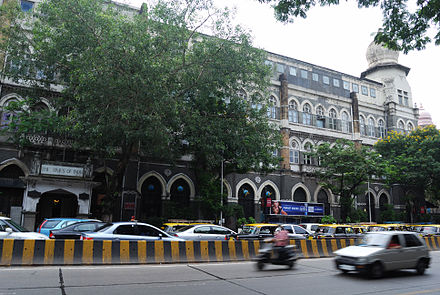 TOI's first office is opposite the Chhatrapati Shivaji Terminus in Mumbai where it was founded. Times of India Building.jpg