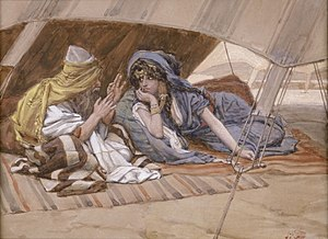 Abraham - Abraham's Counsel to Sarai (watercolor c. 1896–1902 by James Tissot)