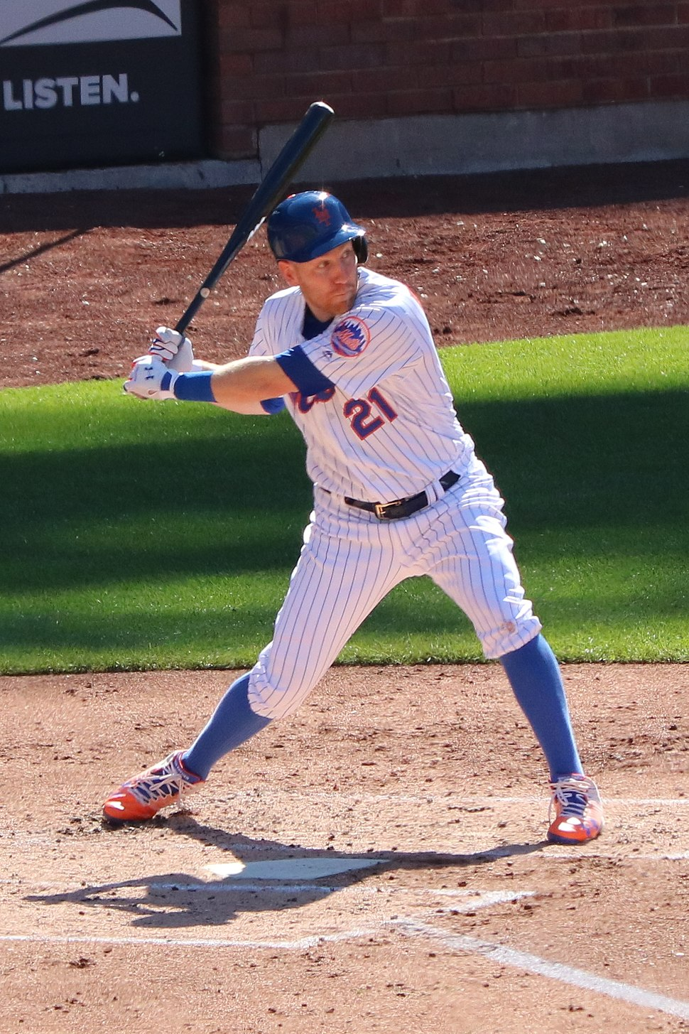 Todd Frazier at bat, July 7, 2018 (cropped)