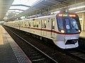 Toei Series 5300 5319F 60th Anniversary Headmark in Katsutadai Station.jpg
