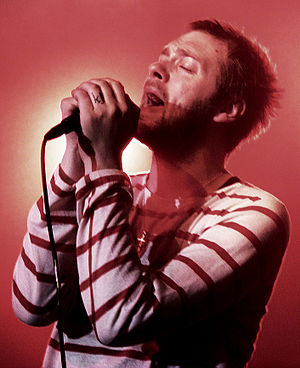 Tom Meighan - Tom, in concert with Kasabian, in Terville, France 2010.