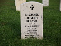 Tombstone of 1Lt Michael Joseph Blassie.JPG