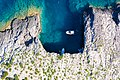 Top-down view of the Green Cave on Ravnik island in Croatia (48608278773).jpg