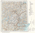Topographic map of Norway, E38 aust Gjerstad, 1938.jpg