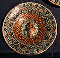 Toscana, piatto in maiolica con stemma, xv secolo.jpg